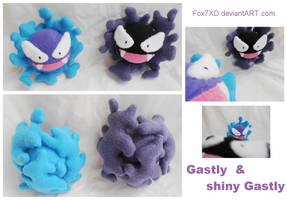 Gastly Plushies by Fox7XD