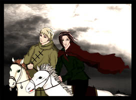 APH Russia and Lithuania by Hetalia