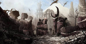 Skywind Daedric Ruins by mbanshee