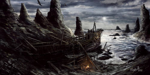 TES - Morrowind - Sheogorad Ship Wreck by mbanshee