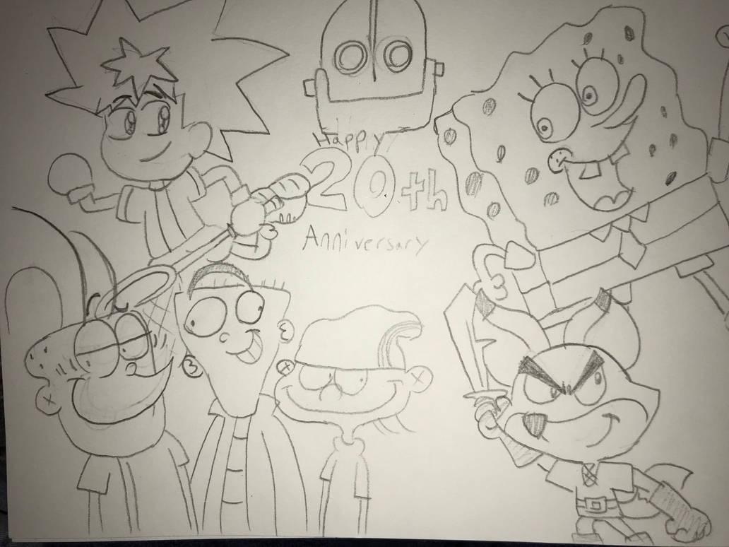 Happy 20th anniversary (sketch) by StephenRStorti91