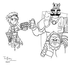 Leauge of Legends: Vi and Braum Bump Fist by ToastsaoT