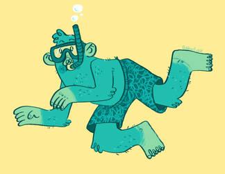 Summertime Bigfoot by Jacked-Sherbert