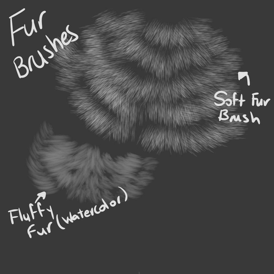 Fur Brushes Firealpaca Read Description By 18gingasoldier On