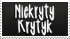 Niekryty krytyk fan stamp by RainbowKaDash