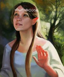 Elf girl by Mi-nami