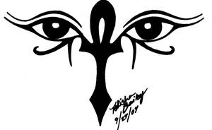 Ankh and Eyes of Horus tattoo by Rainbowmaker