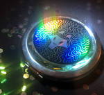 Holographic Lion Sticker by dailycatdraw
