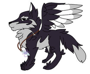 [AUCTION] Winged Wolf Adopt by Buddy-Adopts