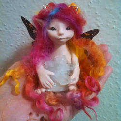 Lovely Locks ooak fairy by purpleravenwings