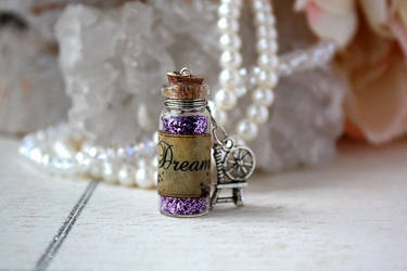 Dream Potion Vial Necklace by purpleravenwings