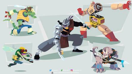 TMNT Villains Group #2 by ugoyak