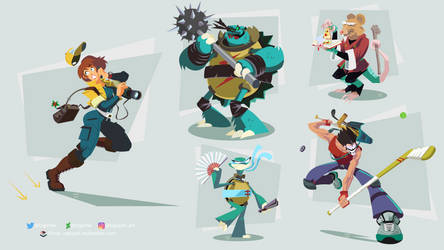 TMNT Allies by ugoyak