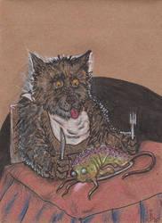 Seb Hoovitnisson's 'Fish' Dinner by squidink