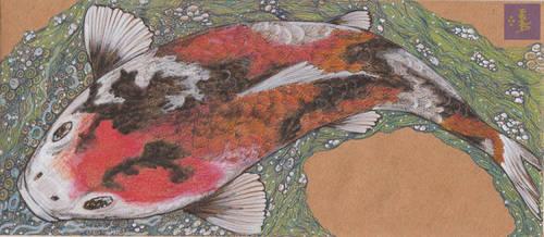 Koi Envelope by squidink