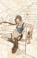Lara Croft sketch by FrancineDelgado