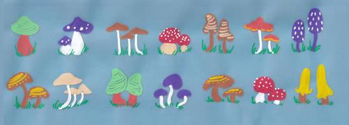 190111 Marker Mushrooms by NatalieViola