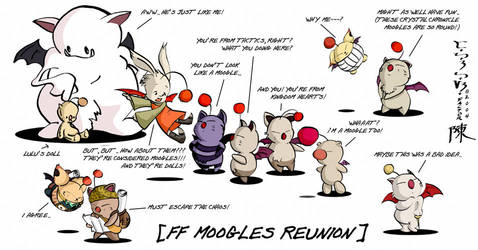 Final Fantasy: Moogles by indiochink