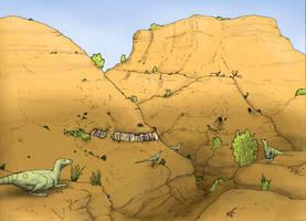Oryctodromeus hills by Hyrotrioskjan