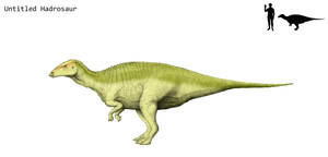 Untitled hadrosaur by Hyrotrioskjan