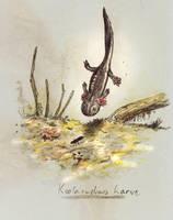 Koolasuchus larvae by Hyrotrioskjan