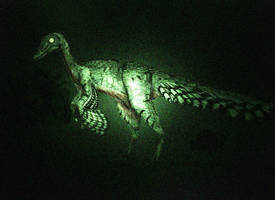 Teratophoneus troodon nightvision by Hyrotrioskjan