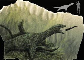 Another sneaky plesiosaur by Hyrotrioskjan