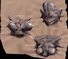 Three mongolian noses by Hyrotrioskjan