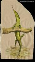 Climbing mosasaur by Hyrotrioskjan