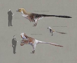 Dakotaraptor and Utahraptor 2.0 by Hyrotrioskjan