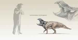 Ischioceratops by Hyrotrioskjan