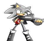 Somber The Hedgehog has a shot gun by zeromythos5