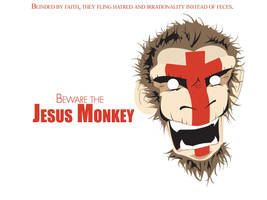 The Jesus Monkey - Wallpaper by satan666v