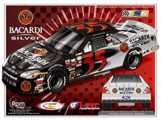 Bacardi Silver Busch car by RpmIndy