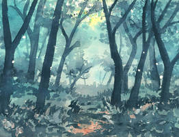 Evening in the woods by doma22