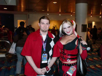 Myself and an AC Harley Quinn at DC 2011 by HarlequinHenchman