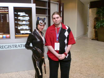 Myself and Catwoman at DC 2011 #1 by HarlequinHenchman