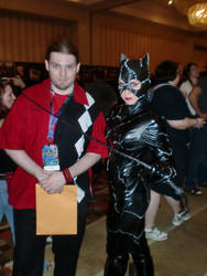 Myself and Catwoman at DC 2011 #2 by HarlequinHenchman
