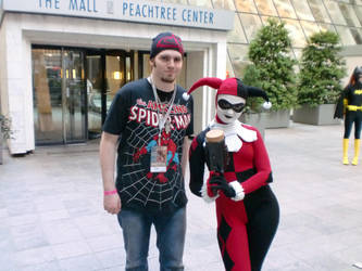 Myself and a Harley 'Trini' Quinn at DC 2010 by HarlequinHenchman