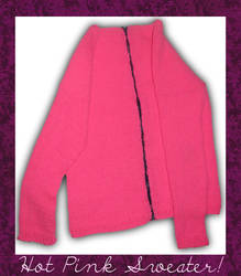 HOT PINK SWEATER by peacelovevegans