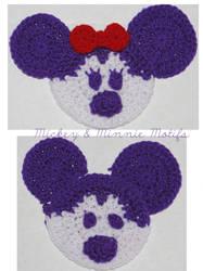 Mickey and Minnie Motifs by peacelovevegans