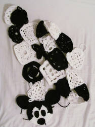 Mickey Mouse Scarf by peacelovevegans