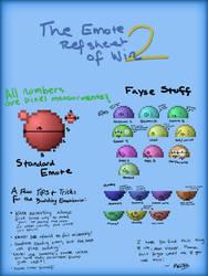 The 2nd Emote Ref Sheet by JRCnrd