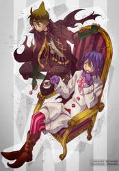 Coloring: Mephisto and Amaimon by M-e-e-s-h-o