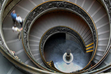THE VATICAN MUSEUM STAIRS by TADBEER