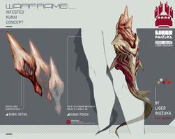 Warframe: Infested Kunai Concept by Liger-Inuzuka