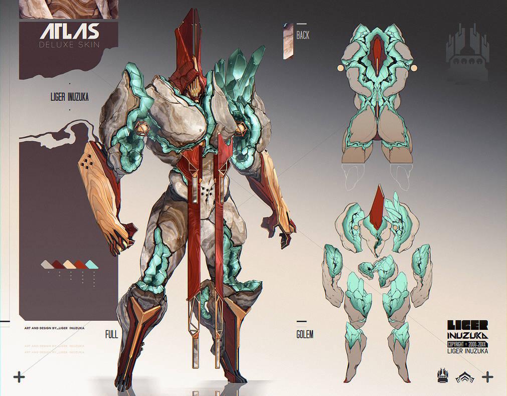 Warframe: Atlas Deluxe Skin by Liger-Inuzuka