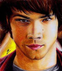 Sam Winchester (colour pencil) by izziwizVIII