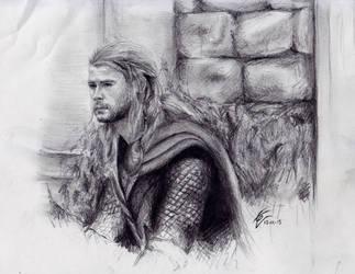 Thor sketch by izziwizVIII