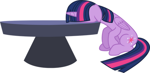 Twillight Sparkle (desk plant vector) by davidsfire